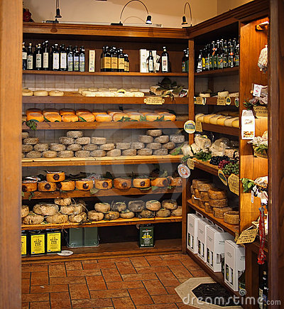 Typical Tuscan product store Editorial Photo