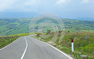 Typical Tuscany road