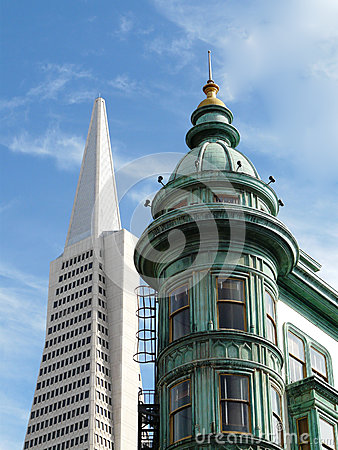 Typical view in San Francisco Editorial Photography