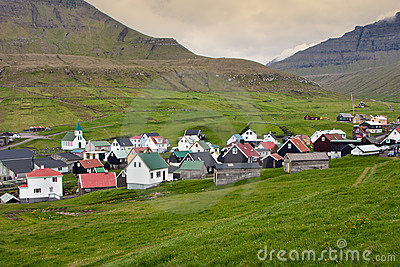 Typical village of Faroe Islands