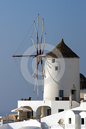 Typical windmill in Oia