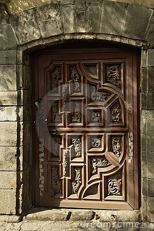 Typical Wood Door San Angel Mexico City