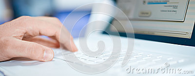 Typing Computer Keyboard Stock Photo - Image: 26018830