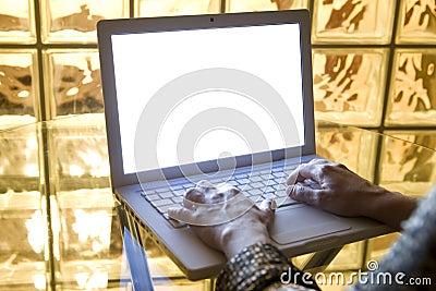Typing on Laptop 06