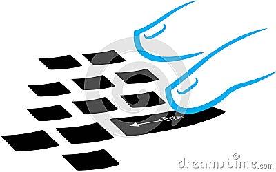 Typing logo