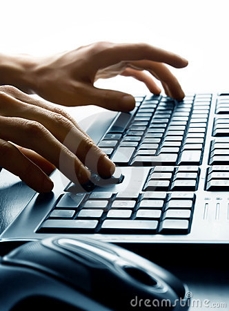 Free Typing On Keyboard Stock Photography - 13285852