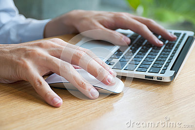 Typing and Using Mouse