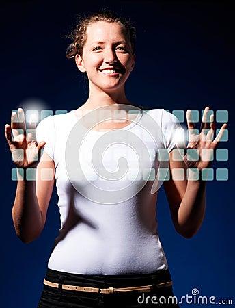 Typing on virtual keyboard