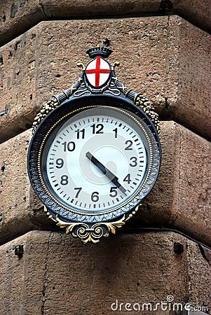 Typische klok Genua