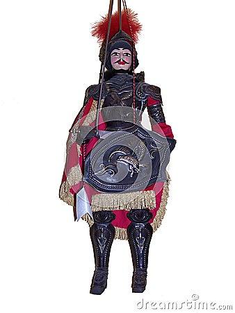 Typische sizilianische Marionette