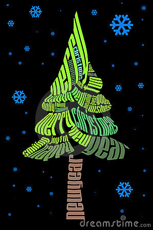 Typographic Christmas tree
