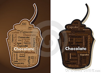 Typography Cupcakes