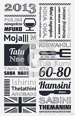 Typography with elements of infographics