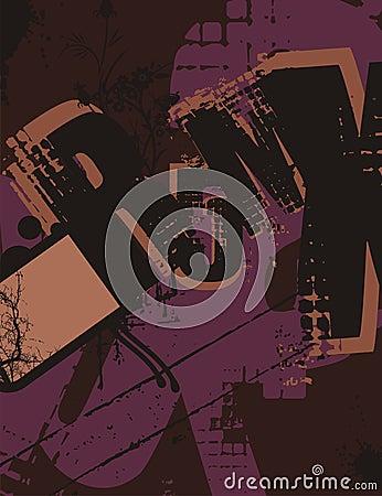 Typography Grunge Background