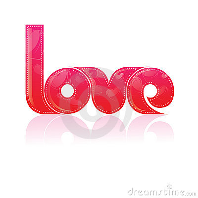 Typography/T-Shirt design/ The word Love with Patt