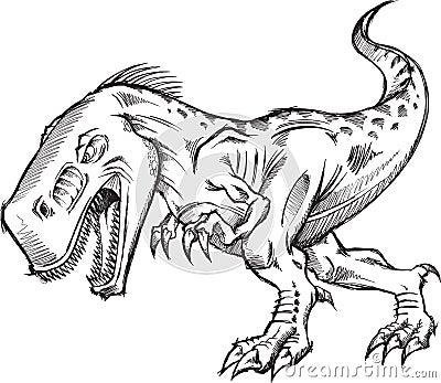 Tyrannosaurus Dinosaur Sketch Doodle