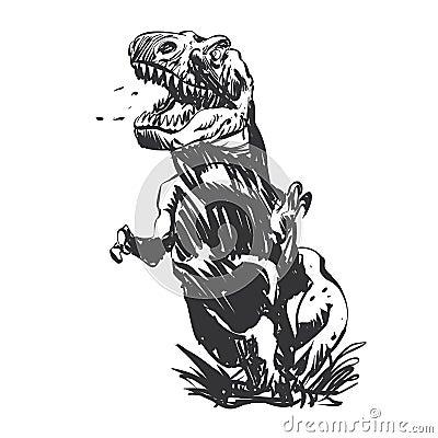 Free Tyrannosaurus Hand-painted Stock Photography - 144377422