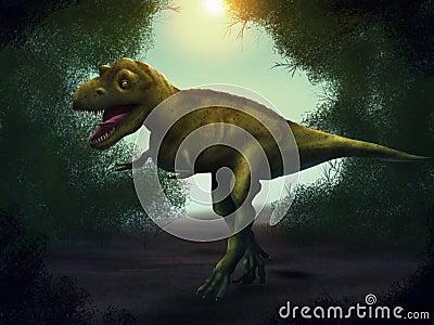 Tyrannosaurus Rex Digital Painting