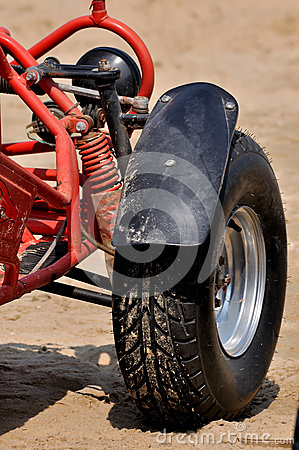 Tyre of beach sand motorcycle