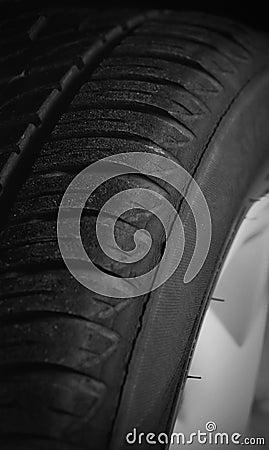 Tyre closeup