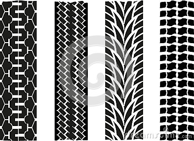 Tyre imprint Vector Illustration