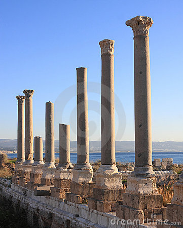Tyre Roman Columns at Sunset (Lebanon)