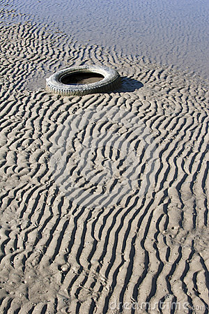 Tyre in the sand