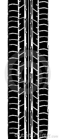 Free Tyre Trace Royalty Free Stock Photo - 9607185