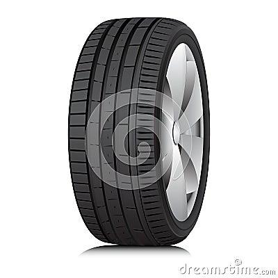 Free Tyre. Wheel. Vector. Stock Image - 33997191
