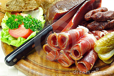 Tyrolean bacon plate
