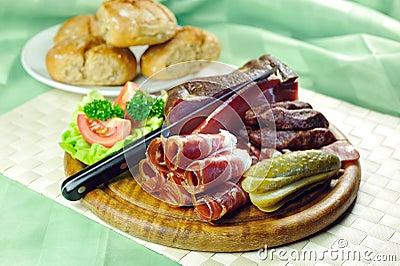 Tyrolean bacon plate