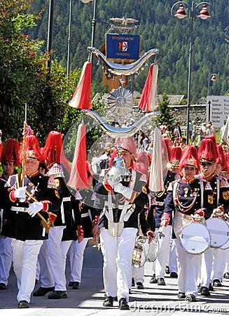 Tyrolean folk event Editorial Stock Image
