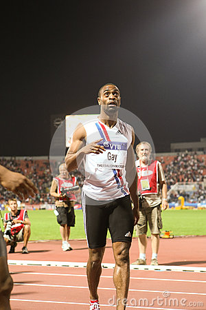 Tyson Gay Mens 100m  World Athletics Final 2009 Editorial Image