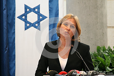 Tzipi Livni at Conference Editorial Stock Photo