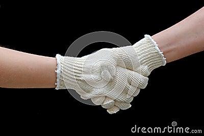 Uścisk dłoni pracy