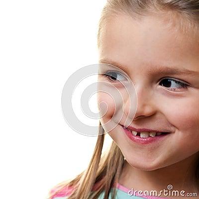 Uśmiechnięci dziewczyn potomstwa