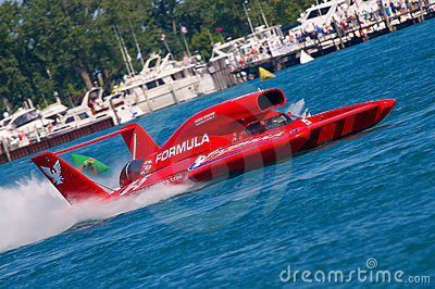 U-5 Hydroplane Races on the River Editorial Stock Image