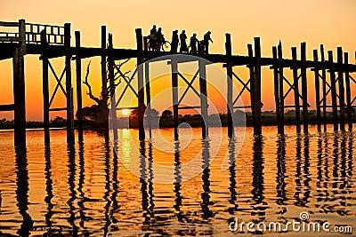U bein bridge Amarapura ,Mandalay, Myanmar.