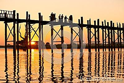 U bein bridge, Amarapura ,Mandalay, Myanmar.