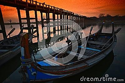 Sunset in Amarapura