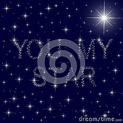 U mijn ster sterrige blauwe hemel stock foto afbeelding 28962490 - Een ster in mijn cabine ...