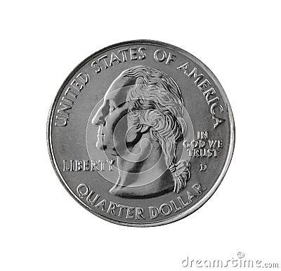 U.S. $0.25 coin