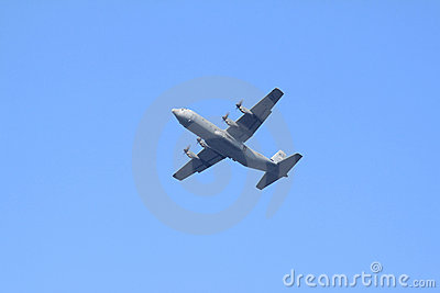 U.S. Air Force Hercules plane in Holland Editorial Photography