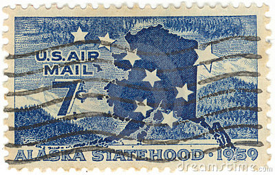 U.S. Air Mail Postage Stamp