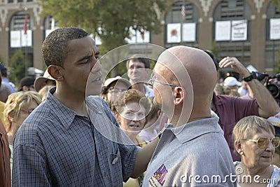 U.S. Сенатор Barak Obama Редакционное Фотография