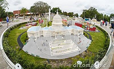 U.S. Capital Building at Legoland Florida Le Editorial Photography