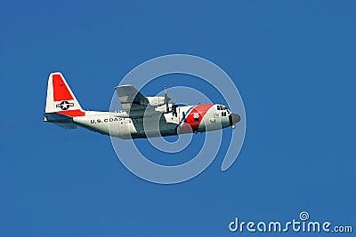 U.S. Coast Guard Cargo Plane Editorial Stock Image