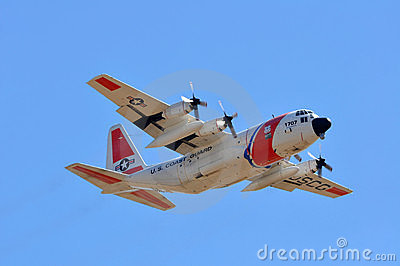 U.S.Coast Guard Plane Editorial Photo