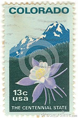 U.S. Colorado Postage Stamp