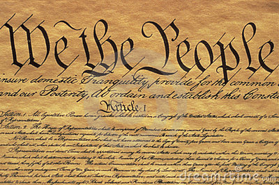 U.S. Constitution Editorial Photo
